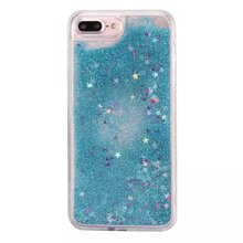 Colorful Moving Stars Liquid Glitter Quicksand 3D Bling Phone Case Cover For Iphone 7 Shining Star Liquid Case