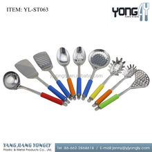 Yongly 9pcs Colorful Stainless Steel Kitchen Cookware Utensils Set Kitchen Tool