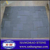 Cheap black flooring limestone for exterior decoration