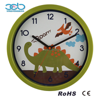 10 Inch Dinosaur Face cartoon clocks, children kids wall clock