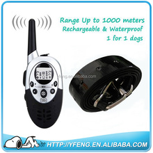 4 Levels 1000 Yard Waterproof Dog Shock Training Collar Rechargeable Remote Dog Training Collar