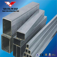 Galvanized square and rectangular mild steel pipes! SHS RHS steel profiles made in China Tianjin YOUFA Brand