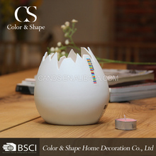 Popular hand-made egg shape ceramic candle holder for hotel
