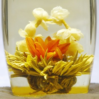 HANDMADE BLOOMING TEA,Artistic flowering Flower ball