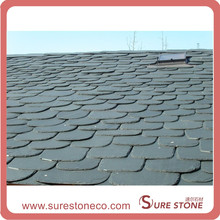 Exterior black natural slate roof tile