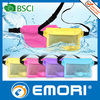 Small MOQ top sell pvc mobile phone waterproof dry pouch for swimming