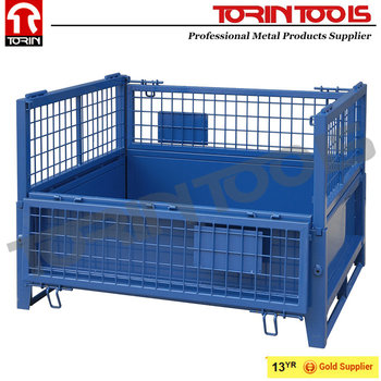 Convenient Stackable Foldable Welded Wire Box For Logistics