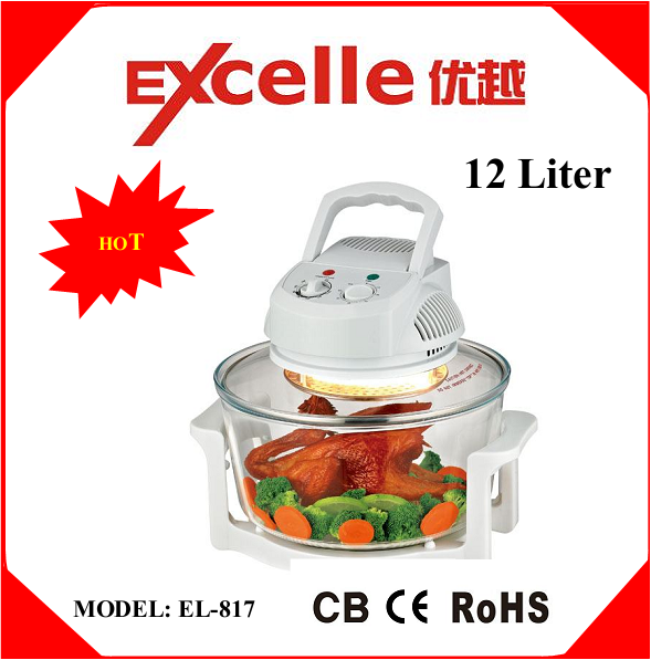 12L hot-sale multifunctional electric halogen convection oven