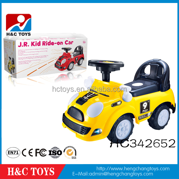 Newest cartoon musical toy kids plastic car children manual ride on car HC342652