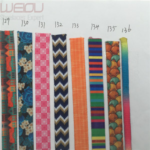 Weiou fashion hot sell good quality dye sublimation print shoelaces patterned shoe laces