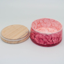 Wholesale colorful marble candle jar with lid