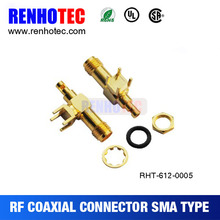 Sma 90 Degree Jack Connector To Pcb Crimp For Cable