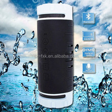 Portable outdoor sports waterproof wireless bluetooth speaker with sd card slot and fm radio mp3 music player