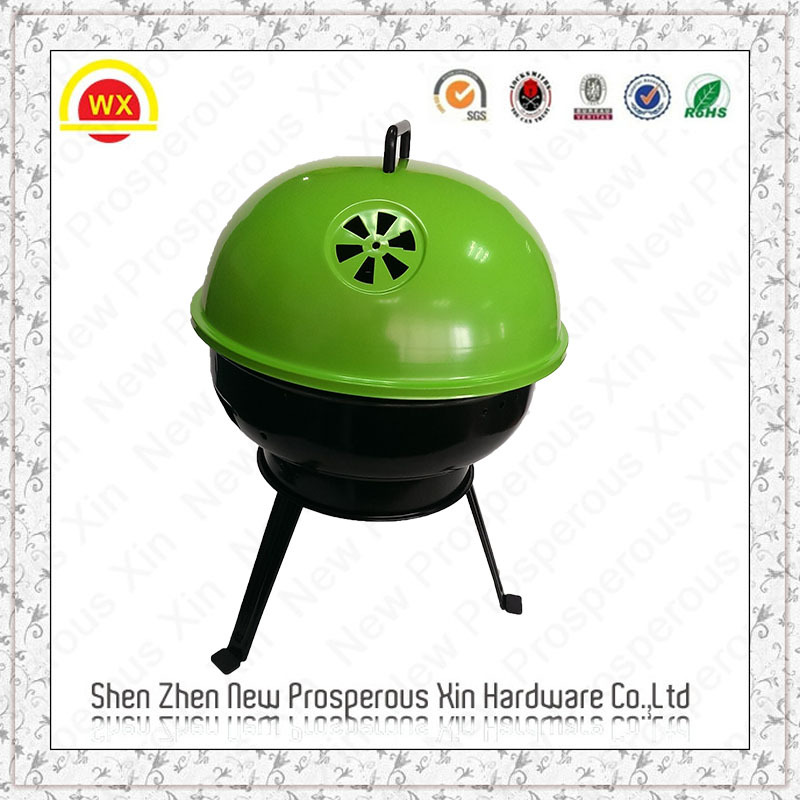 Portable outdoor heavy duty bbq large charcoal grill smoker