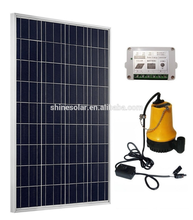 Household mini Solar Home small power plants 12v poly solar panel 100w