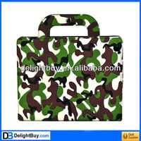 Stylish Camo Portable PU Leather Bag Case Cover Hand Bag Case Protector for iPad 2 iPad 3