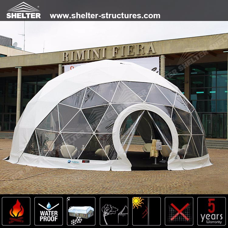 Outdoor Wind Resistant Geodesic Dome Tent for park shelter