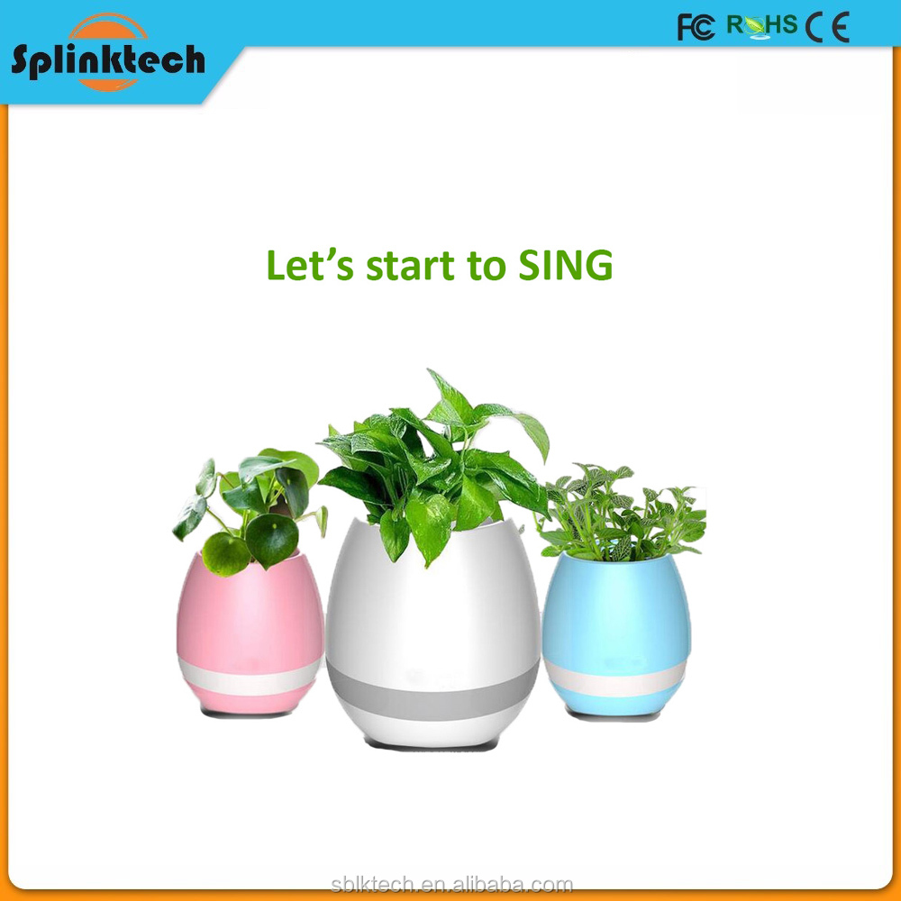 Popular Bluetooth Speaker Silicone Handmade Articial Flower Pot