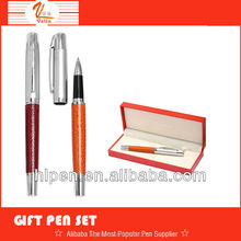 NS-0131 promotional business gift pen set , Leather ball pen , Nice business gift pen set