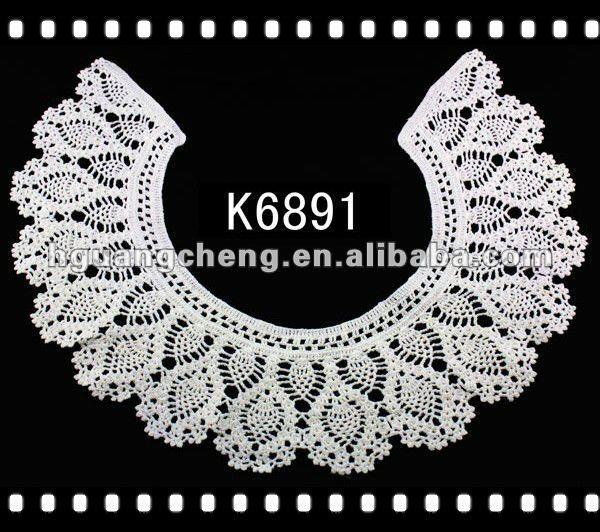 Neck Embroidery Design Pattern Cotton Crochet Neck Lace View Neck
