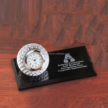 Crystal Golf stand Clock Desk Office Sets for desktop gift
