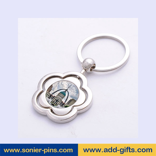 sonier-pins wholesale custom shape keychain with photo viewer with free sample