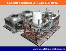 Plastic Oil Bucket Injection Mold Making, 10L molds for oil bucket