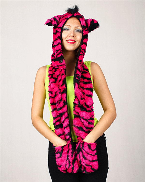 Excellent quality hot sale outdoor plush animal toy hood hats