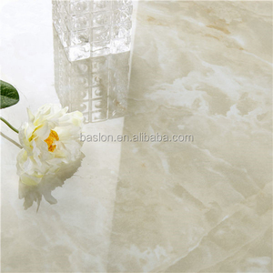 FOSHAN FACTORY WHITE MARBLE polished glazed tile marble look porcelain tile floor tile Champagne Jade