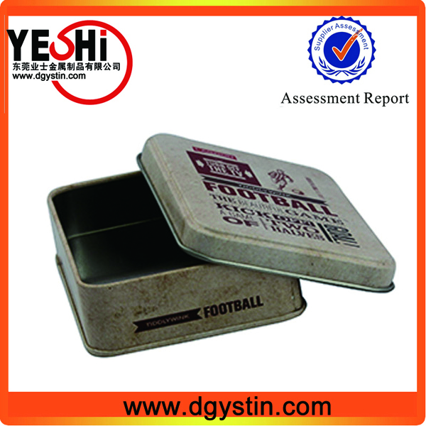 Rectangle business card case made from metal tins recylable using in office