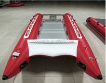 (CE) PVC material inflatable catamaran high speed boat