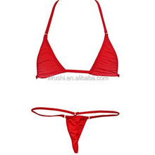 Hot Sale Red NO PAD MINI TOP Sexy Woman Low Rise G-String Thong Bikini