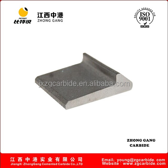 carbide tamping tines for railway construction equipment