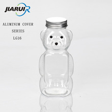 Transparent silicone valve plastic sealed Honey bear bottle