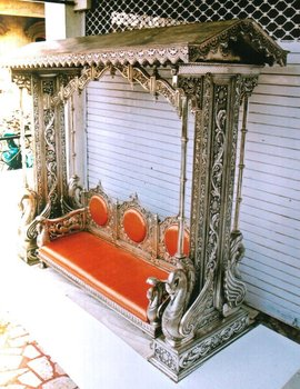 Silver indian wedding swing (Silver Furniture)