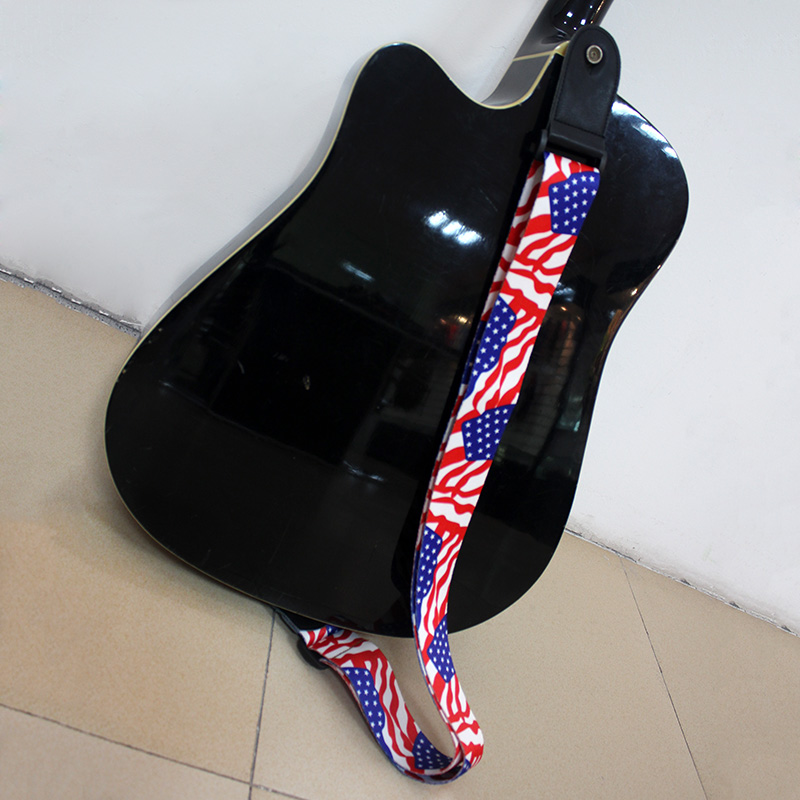 Fashion printed colorful polyester strings for guitar