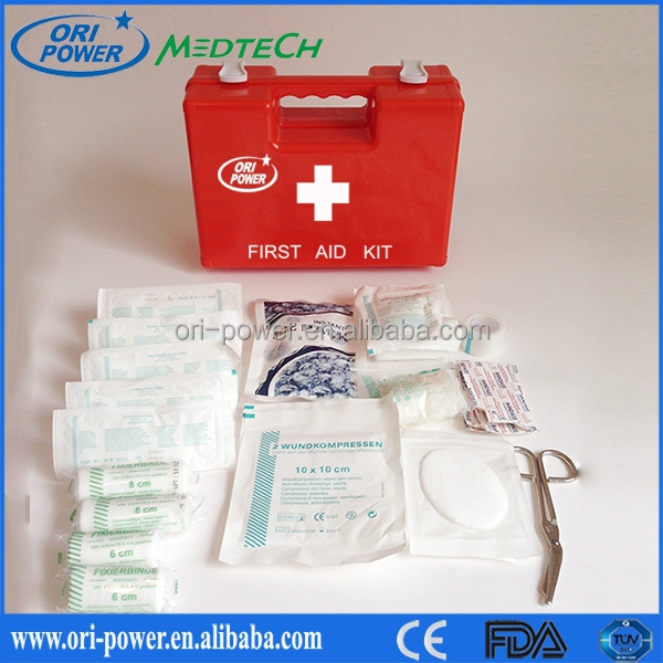 Hot sale DIN13157 Germany FDA CE approved handy fashion wholesale car accident first aid kit