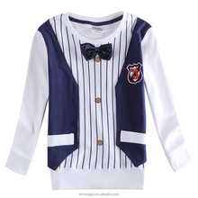 (A6413) 3-8Y new baby clothes nova branded kids korea designs winter formal kids tshirts tops boys party wear