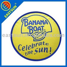 EASTSUN 2012 hot sale eco-friendly and foldable colorful printed promotional flying nylon frisbee for children and pet