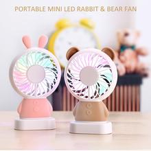 Mini Toy Battery Desk Lamp Small Handheld Table Usha Electric Stand DC Rechargeable Light Electrical Standing Led Fan With Light
