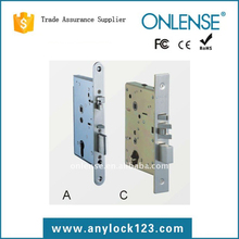 Multiselection lock parts lock mortise EU and US latch all available