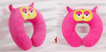2015 new design cute animal shape neck pillow wholesale price driving travelling neck pillow