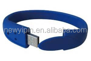 fashion custom hand band usb flash drive, wrist band usb