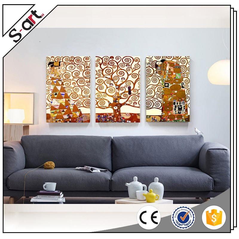 China-made fashion reproduction klimt gustav artwork oil paintings for hotel