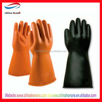 electrical rubber hand gloves/electrical insulation gloves