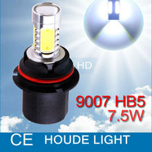 9007 HB5 High Power 7.5W 5LED Pure White Head Tail Fog Driving Car Light