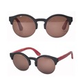 New High Quality Trendy Bamboo Sunglasses Frame with Colorful Temple
