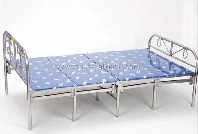 High Quality Steel Iron Folding Single Metal Bed for Sale