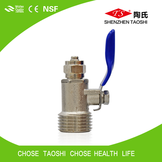 Durable brass ball valve of RO filter fittings