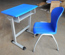 Cheap Plastic Single School Desk and Chair, Plastic Student Desk and Chair, Reading Desk and Chair
